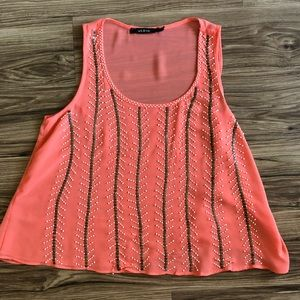 Arc and co beaded tank top
